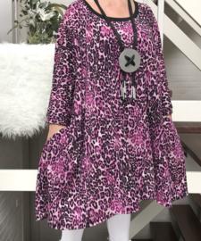 Tess oversized A-lijn jersey jurk/tuniek met zakken apart (extra groot)