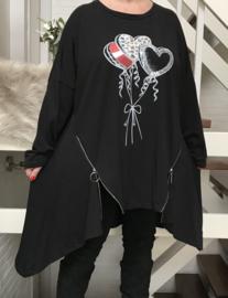 ITALIA katoen tricot A-lijn tuniek/jurk /in meerdere kleuren