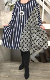 Anne oversized jersey A-lijn jurk/tuniek met zakken apart (extra groot)