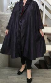 Leticia oversized A-lijn Taft blazer/vest met zakken  (extra groot)  apart aubergine