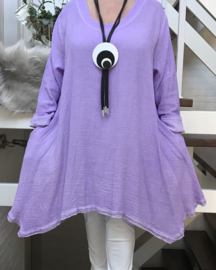 La Bass katoen A-lijn jurk/tuniek met zakken