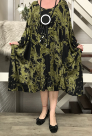 Audrey oversized viscose jersey A-lijn jurk met zakken apart(extra groot)stretch