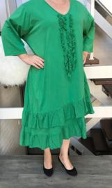 Moonshine jersey asymmetrisch A-lijn jurk (extra groot)/in meerdere kleuren