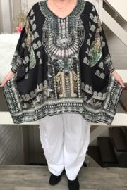 Claudia zomer poncho (extra groot)/in meerdere kleuren