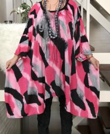 Kitty  oversized A-lijn jersey jurk/tuniek apart (extra groot)