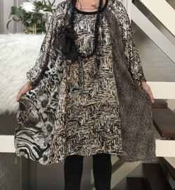 Felicia oversized A-lijn tuniek/jurk apart (extra groot)