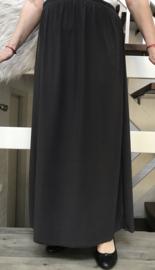 ITALIA rok met elastische tailleband donkergrijs stretch