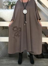 Betsy oversized A-lijn viscose jersey jurk apart (extra groot)stretch