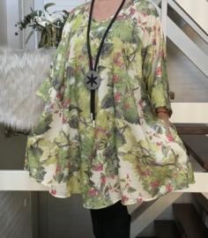 Mia oversized katoen A-lijn tuniek/ jurk met zakken apart (extra groot)
