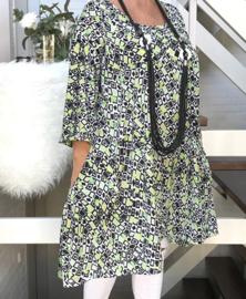 Peggy oversized A-lijn jersey tuniek/jurk met zakken apart (extra groot)