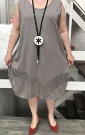 Moonshine jersey  jurk met kant
