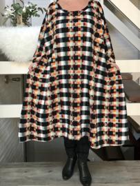 Ina oversized A-lijn viscose jersey  jurk apart (extra groot)stretch