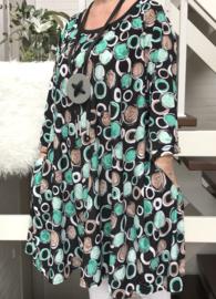 Lotte oversized A-lijn jersey jurk/tuniek met zakken apart (extra groot)