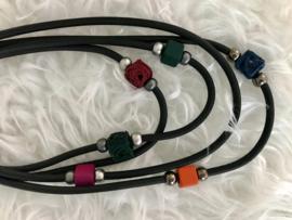 Fashion design jewellery rubber collier 099