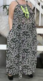 Jessica oversized A-lijn zomer chiffon jurk met zakken  (extra groot)