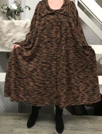 Noor oversized A-lijn tussenjas /blazer/vest met zakken (extra groot)  apart stretch