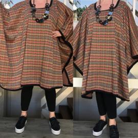 Lilian oversized poncho/tuniek (extra groot)  apart