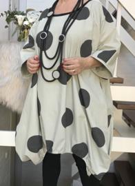 Constance oversized A-lijn katoen tuniek/jurk met zakken apart (extra groot)