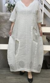 KEKOO design de modieuze kleuring A-lijn jurk + onderjurk