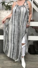 Alison oversized A-lijn zomer chiffon jurk   (extra groot)