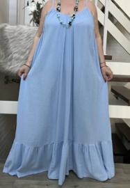 ITALIA oversized katoen/linnen  A-lijn jurk apart/in meerdere kleuren