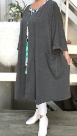 Nicola oversized A-lijn jersey blazer/jas met zakken (extra groot)  apart