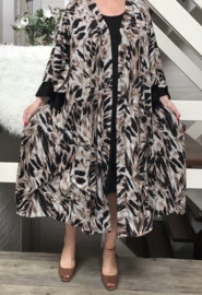 Mathilda oversized jersey  A-lijn blazer/jas (extra groot) apart
