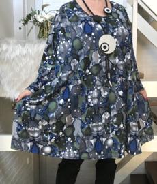 Caitlin oversized jersey A-lijn tuniek/ jurk met zakken apart stretch  (extra groot)