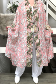 Emilie oversized chiffon A-lijn blazer (extra groot) apart