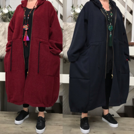 La Bass A-lijn wol/acryl jas/vest stretch apart/in meerdere kleuren