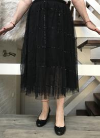 Moonshine oversized  tule rok gevoerd zwart