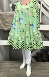 Camilla  oversized viscose crepe A-lijn jurk/tuniek met zakken apart   (extra groot)