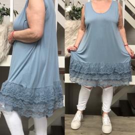 Moonshine jersey A-lijn onderjurk/tuniek met kant /in meerdere kleuren