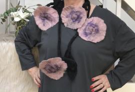Maxima HM wollen ketting met bloemen 00108