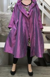 Margaretta oversized A-lijn Taft blazer/vest met zakken  (extra groot)  apart