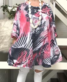 Tottie oversized A-lijn jersey tuniek/jurk met zakken apart (extra groot)