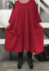 Sue oversized A-lijn jersey jurk apart (extra groot)