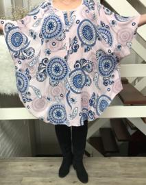 ITALIA viscose oversized blouse/tuniek (extra groot)/in meerdere kleuren