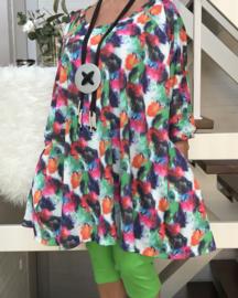 Kelly oversized A-lijn jersey tuniek/jurk met zakken apart (extra groot)