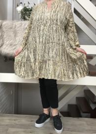 ITALIA viscose A-lijn gekreukeld tuniek/jurk /in meerdere kleuren