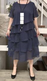 PTAK chic A-lijn jurk gevoerd