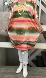 ITALIA viscose oversized tuniek/jurk