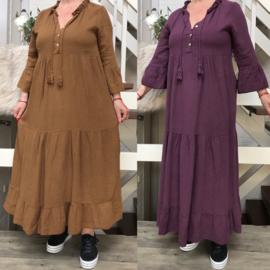 LEN'S Couture hydrofiel katoen  A-lijn jurk apart/in meerdere kleuren