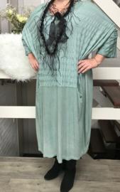 SPLENDORE STELLA  de modieuze kleuring  jersey  jurk (extra groot)