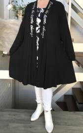 Naveed  jersey viscose A-lijn vest/blazer apart zwart