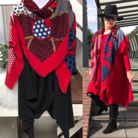 ITALIA klassieke vierkante zachte wol/viscose grote plaid sjaal