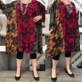 Camila1 oversized viscose jersey A-lijn tuniek/jurk met zakken apart(extra groot)stretch