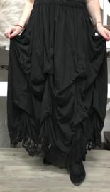 Moonshine katoen jersey rok met verstelbare plooien en KANT/in meerdere kleuren