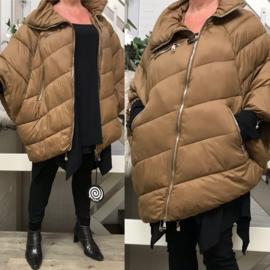 ITALIA gewatteerde asymmetrisch winter jas/mantel/gilet apart