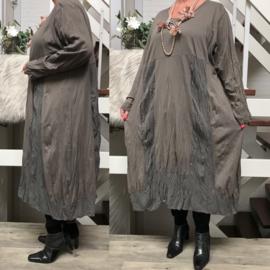 Moonshine katoen jersey  A-lijn jurk apart